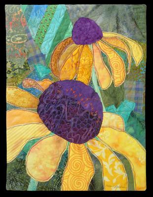 Garden For Peggy Small Art Quilt By Ellen Lindner