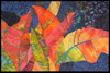 Image - colorful leaves on a blue background