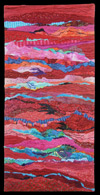 Red Strata, an art quilt by Ellen Lindner, AdventureQuilter.com